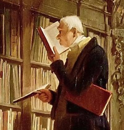Bücherwurm von Carl Spitzweg