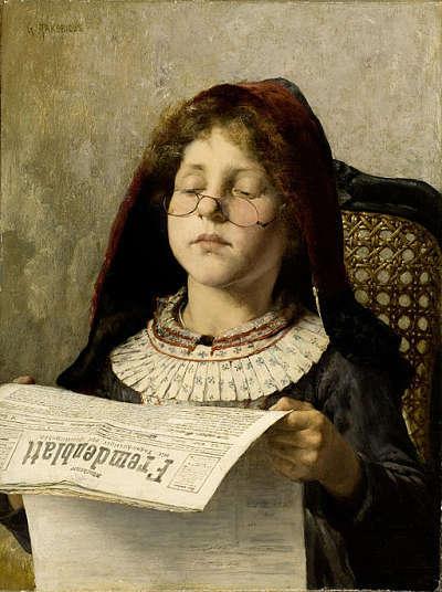 Georgios Jakobides Girl reading