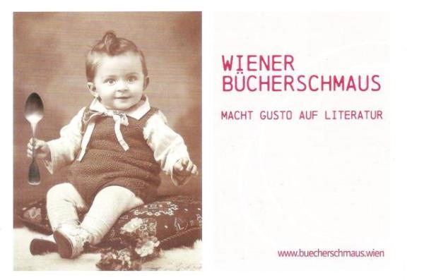 """Postkarte """"Wiener Bücherschmaus"""""""