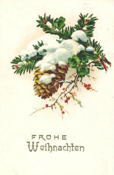 Frohe Weihnachten alte Postkarte 1928