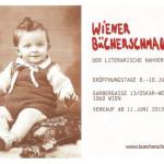 Einladungskarte zur Eroeffnung des Buchgeschaeftes vom Wiener Buecherschmaus.