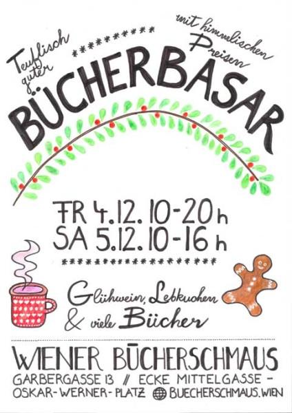 Buecherschmaus Buecherbasar Plakat