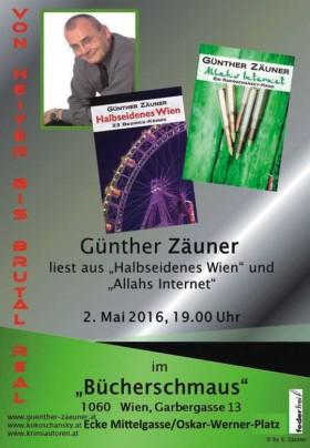 Günther Zäuner liest aus Halbseidenes Wien und Allahs Internet
