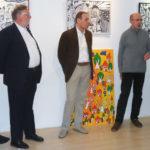Gumpendorfer Graetzeljagd Preisverleihung Begruessung durch Guenter Koch, Ernst Schloegl, Georg Schober