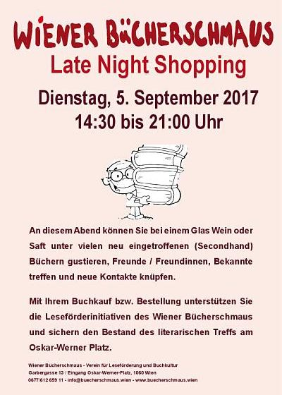 Late Night Shopping im Wiener Bücherschmaus