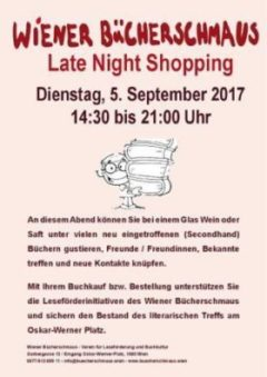 Late Night Shopping im Wiener Bücherschmaus