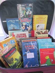 Ein Koffer voller Bücher