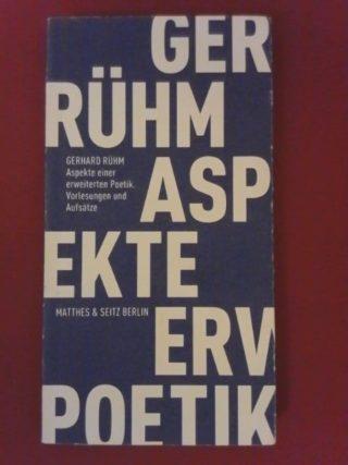 Cover Gerhard Rühm Aspekte einer erweiterten Poetik