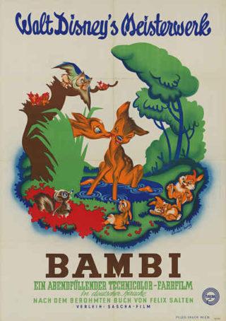 Werbeplakat für den Film Bambi, 1951 Wienbibliothek im Rathaus