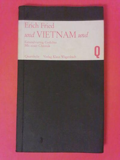 Erich Fried Buchcover von  und Vietnam und